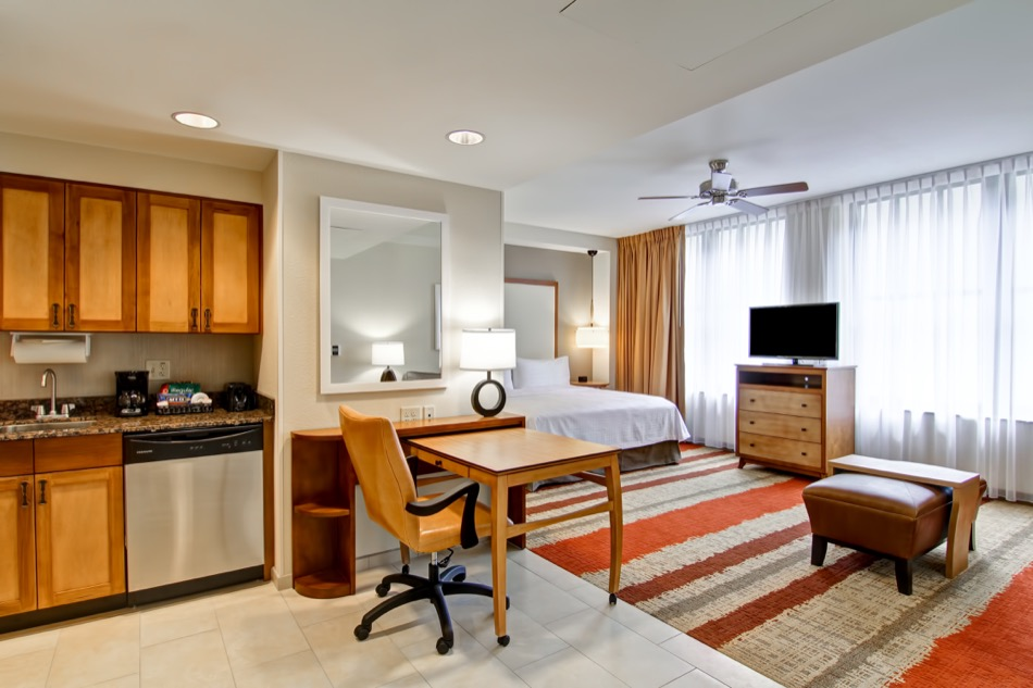 Hampton Inn & Homewood Suites room interior