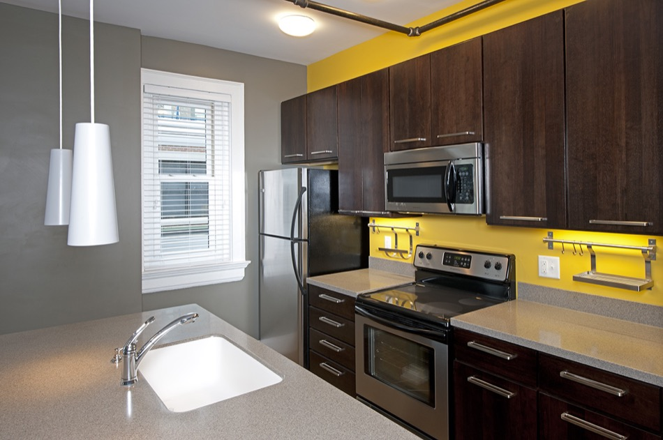 Parvis Lofts renovated kitchen