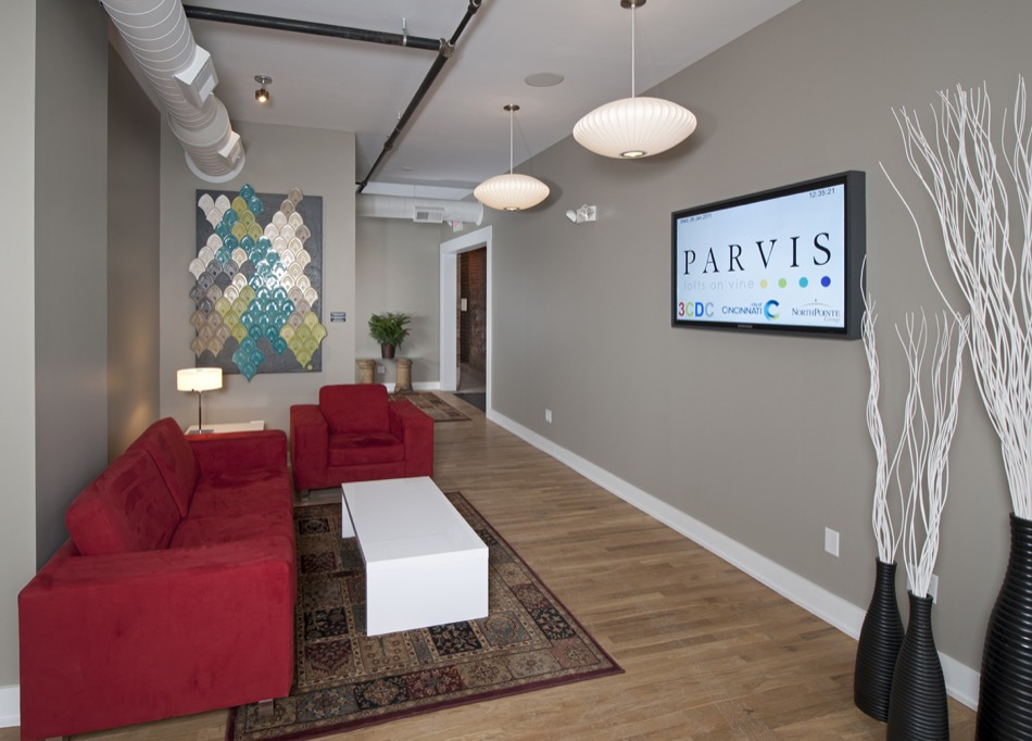 Parvis Lofts lobby