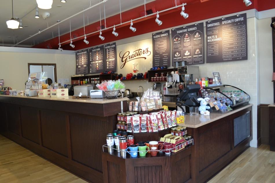 Interior, Graeter's ice cream parlor counter