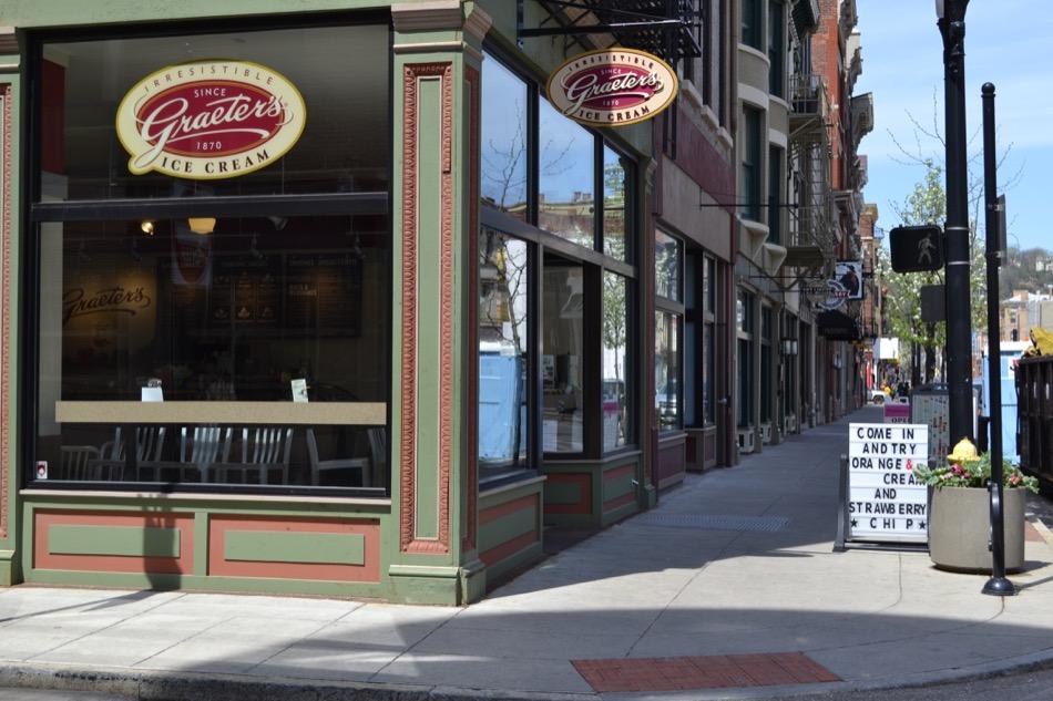 Exterior, street view of Graeters ice cream in OTR