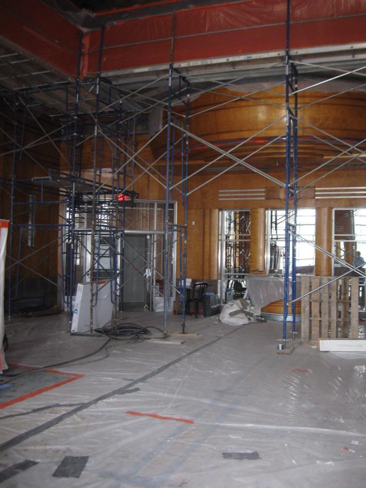Cincinnati Museum at Union Terminal lobby under construction