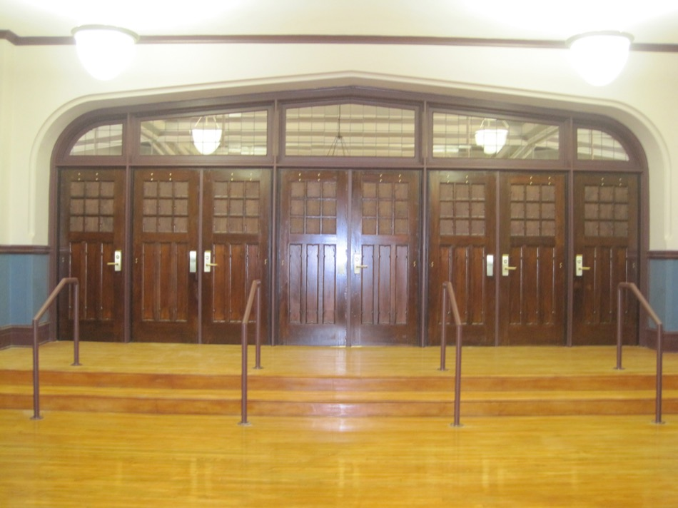 Hughes STEM High School Renovation doors