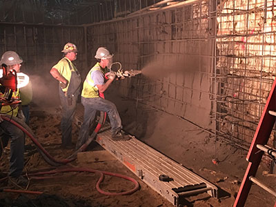 SSRG Shotcrete Music Hall Renovation