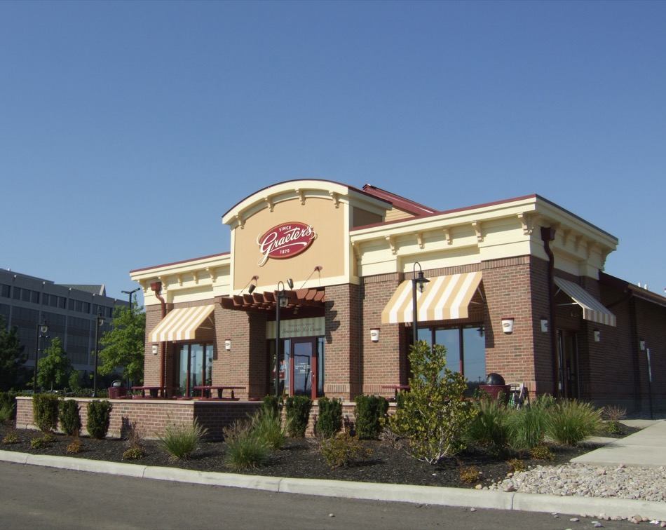 Exterior of Graeters ice cream parlor in Deerfield Township