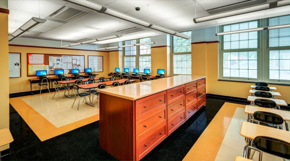 walnut hills high school renovation, classroom