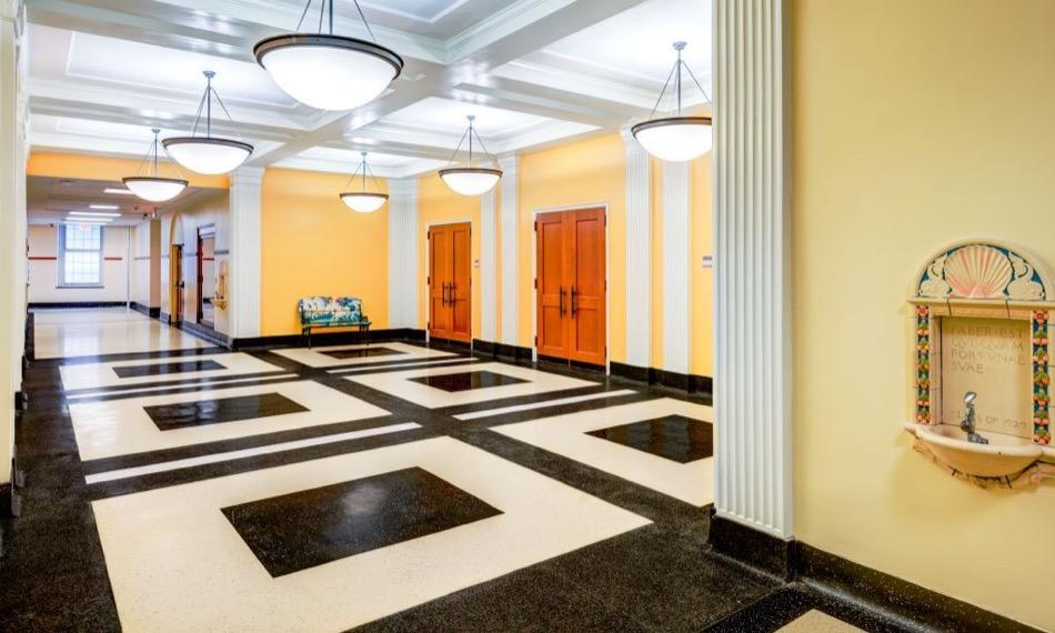 walnut hills high school renovation hallway