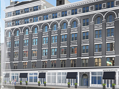 Strietmann Building in OTR rendering