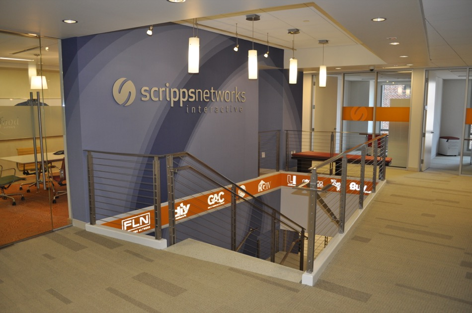 Scripps Network Interactive main hallway and stairs