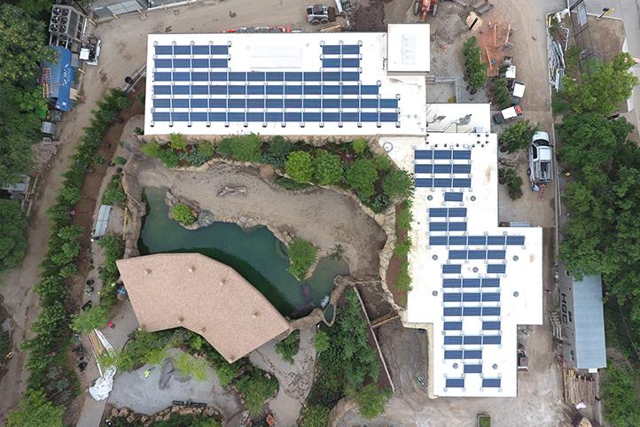 Aerial of Cincinnati Zoo Hippo Cove