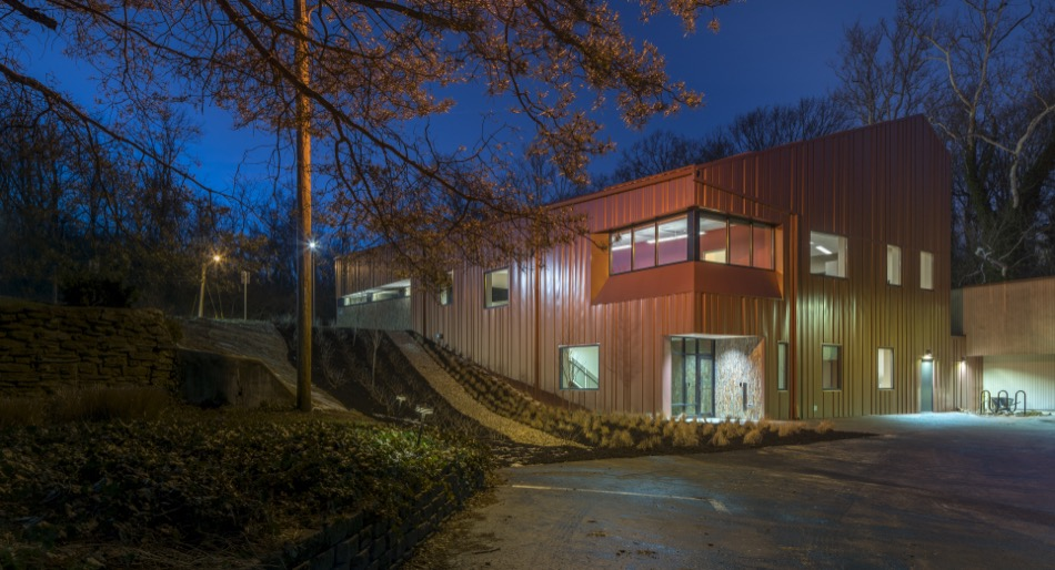 LADD offices exterior at night