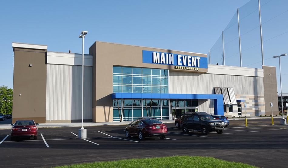 Main Event Entertainment main entrance