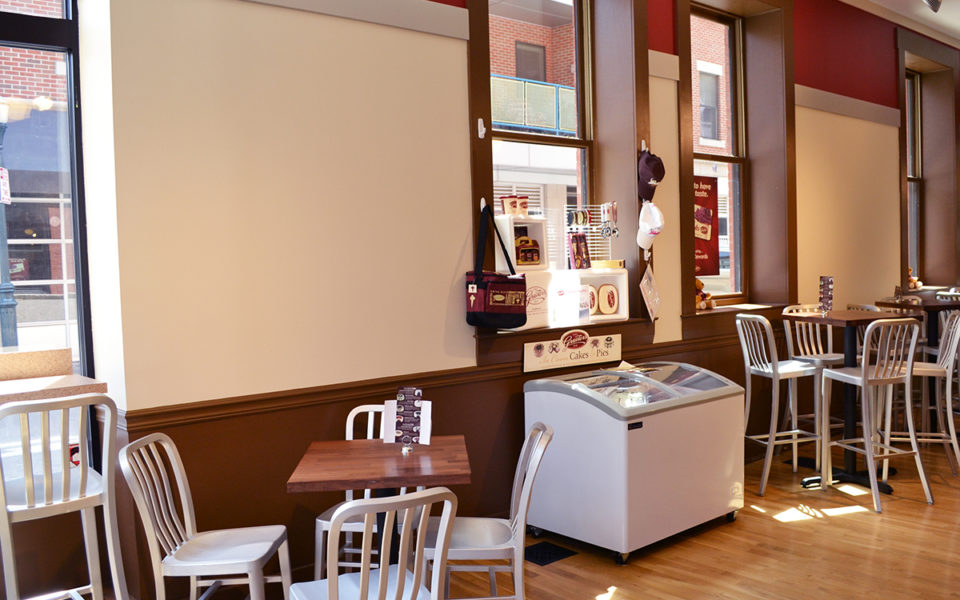 interior of Graeter's in Over the Rhine