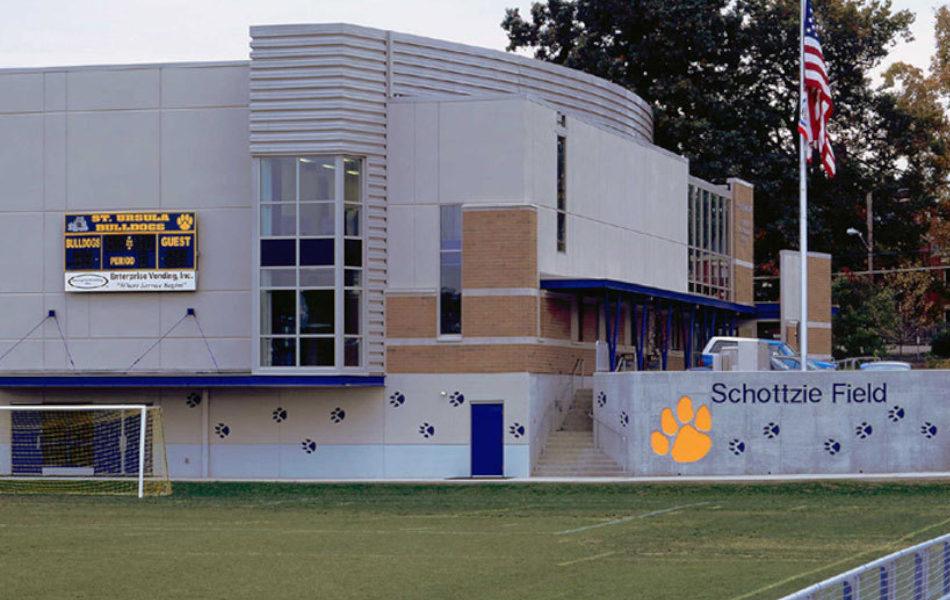 St. Ursula Academy gymnasium and field