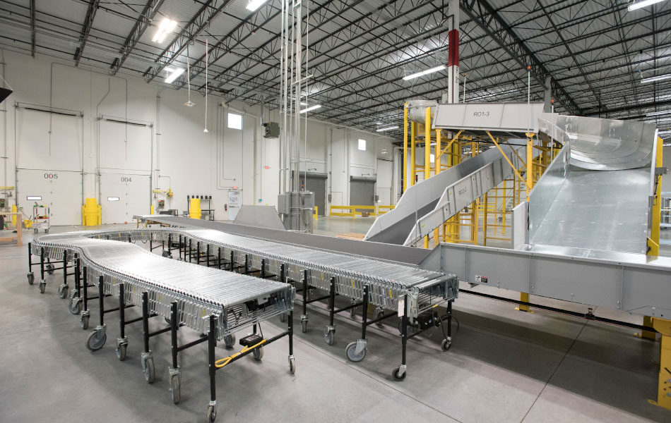 Industrial Delivery Station Program conveyor belts