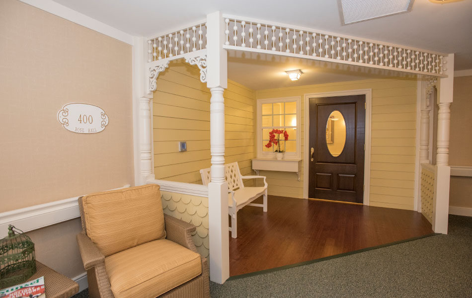 Artis Senior Living of Bridgetown porch-like entry