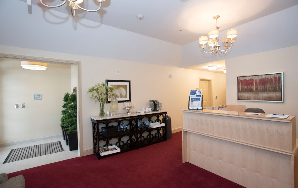 Artis Senior Living of Bridgetown welcome desk