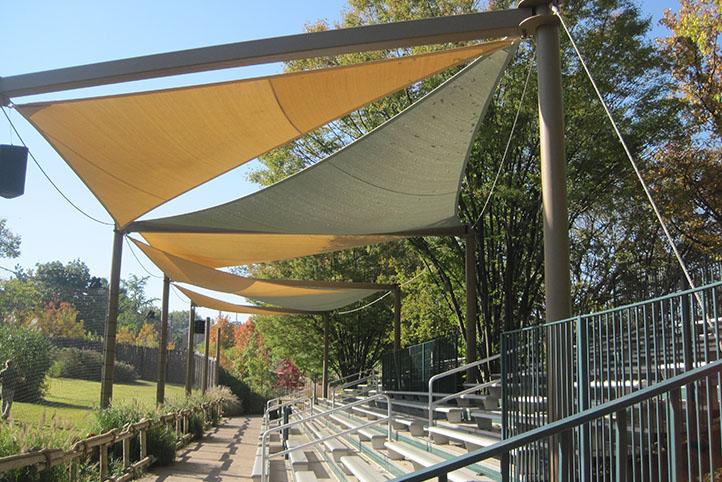 Cincinnati Zoo African Safari sloped seating for presentations