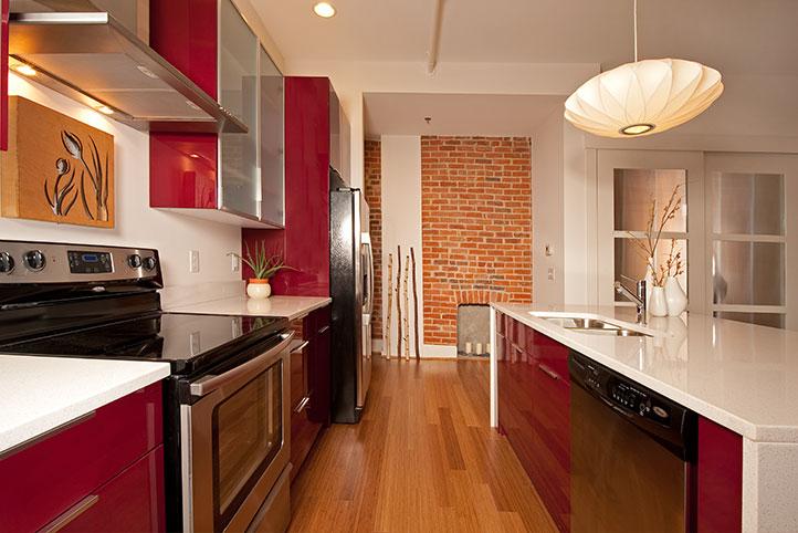 Lofts of Mottainai interior kitchen