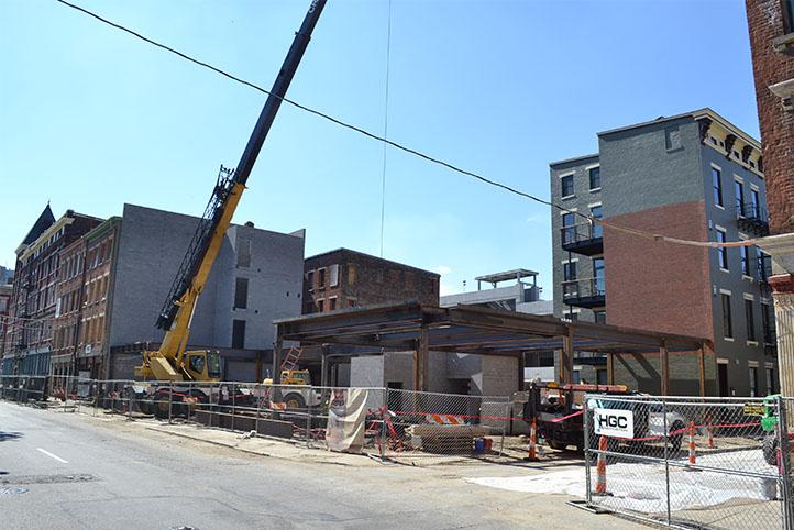 Mercer Commons under construction