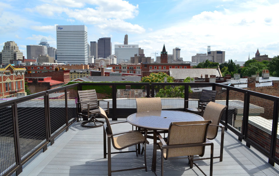 Nicolay Condos, rooftop balcony, Cincinnati View