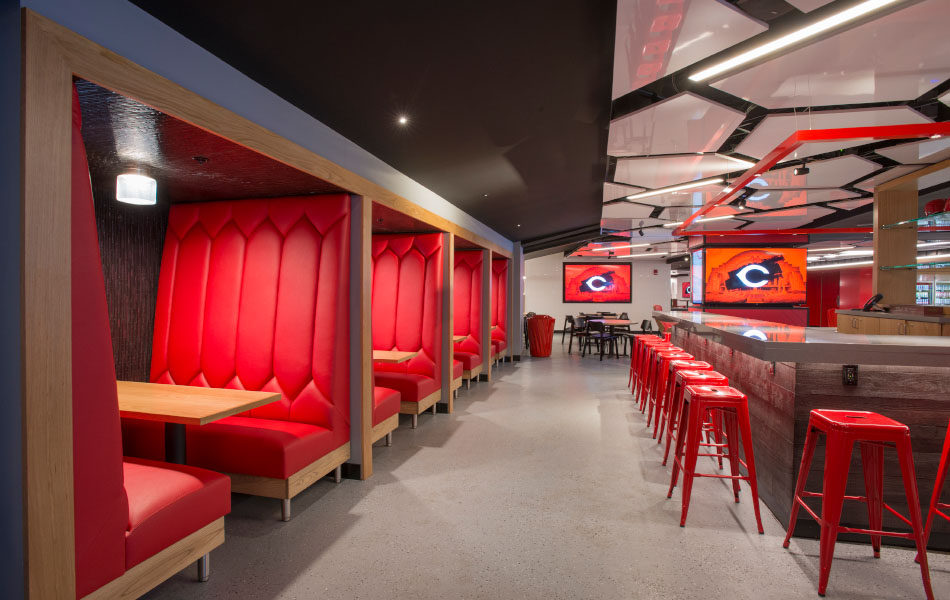 GABP Scouts Club booths and bar seating