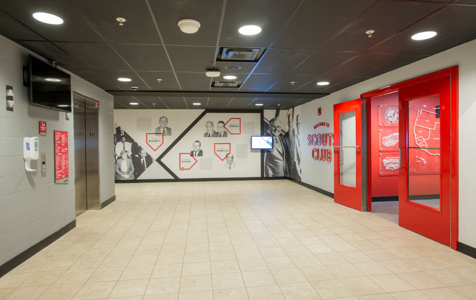 GABP Scouts Club entrance and hallway