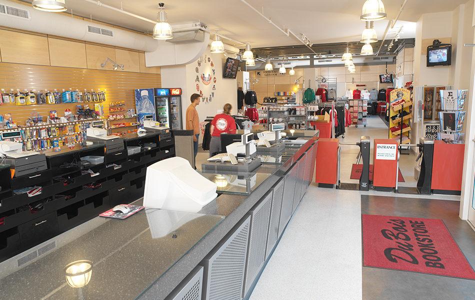 Dubois Bookstore front desk