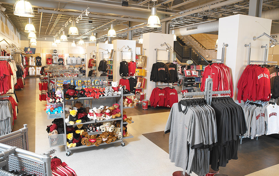Dubois Bookstore interior, apparel and gifts