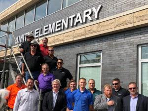 HGC Team at Amity Elementary ribbon cutting