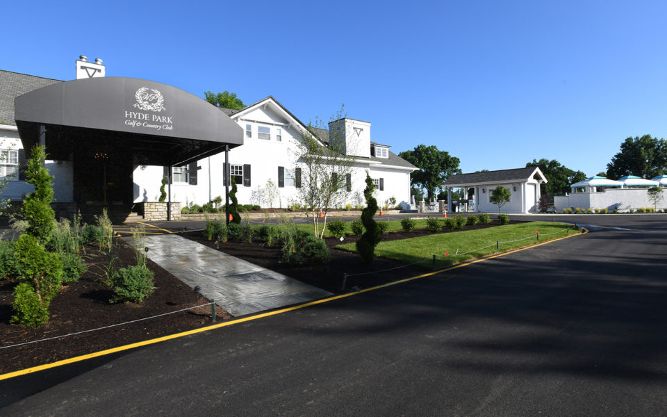 Hyde Park Country Club main entrance