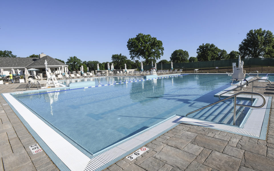 Hyde Park Country Club outdoor pool lap area