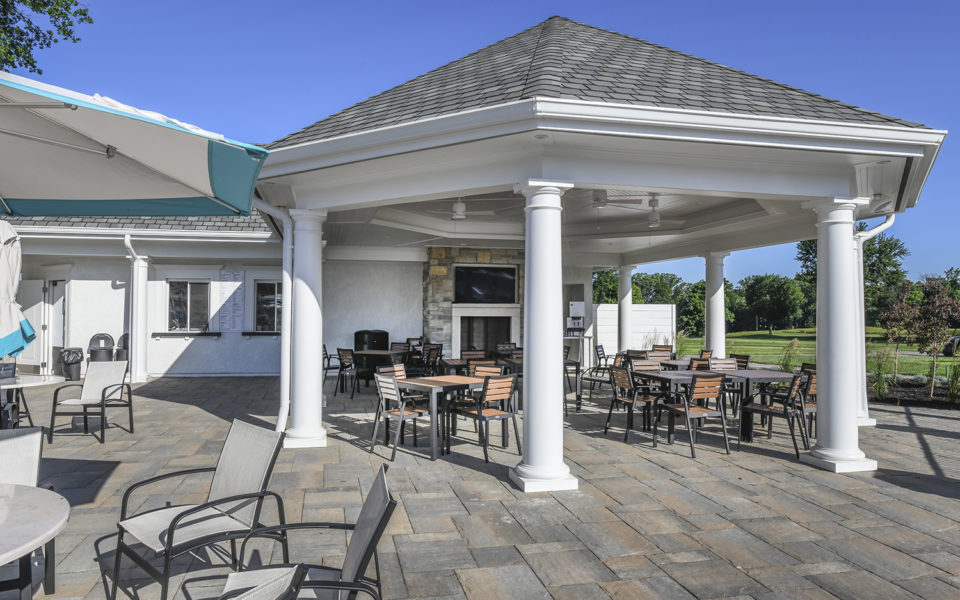 Hyde Park Country Club covered outdoor seating area