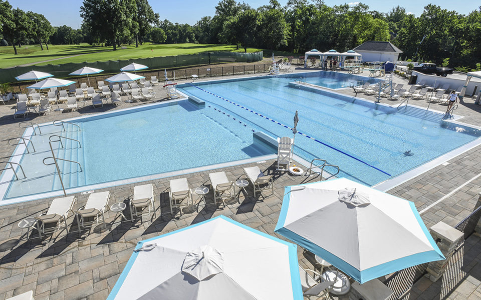 Hyde Park Country Club wide view of outdoor pool
