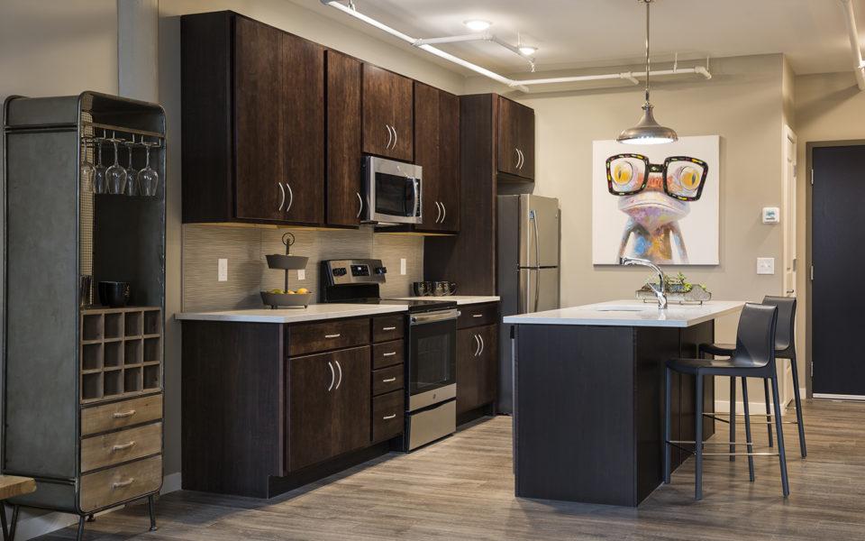 Interior of Crane Factory Flats kitchen
