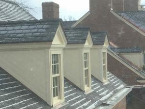 Dormer windows receiving renovations