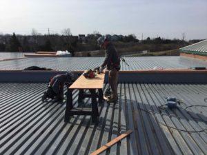 Warren County Court roof under construction