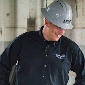 VP of Safety and Logistics in a hardhat