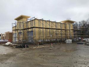 Exterior Graeter's Cherry Grove under construction