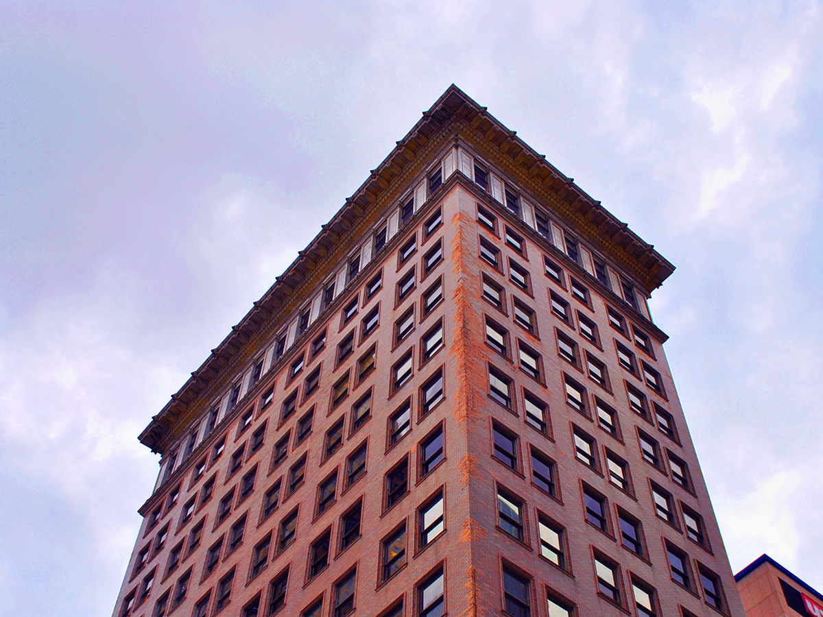 Exterior of top of Ingalls high-rise