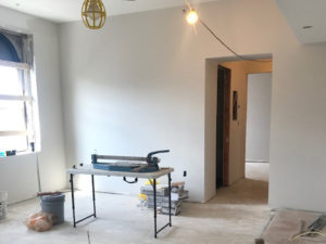 Drywall in Columbia Building