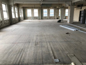 early stages of renovation at Ingalls Building