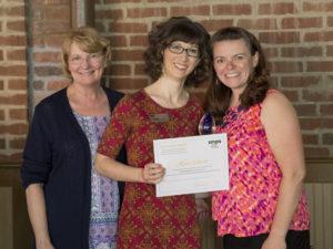 Kate Elliott receiving GCSMPS Rising Star Award