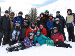 HGC employees enjoy a ski trip