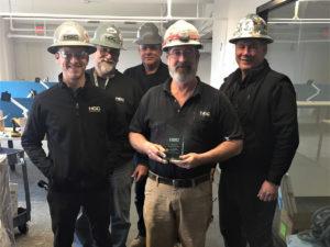 Foreman Dennis Huseman celebrates 20th anniversary