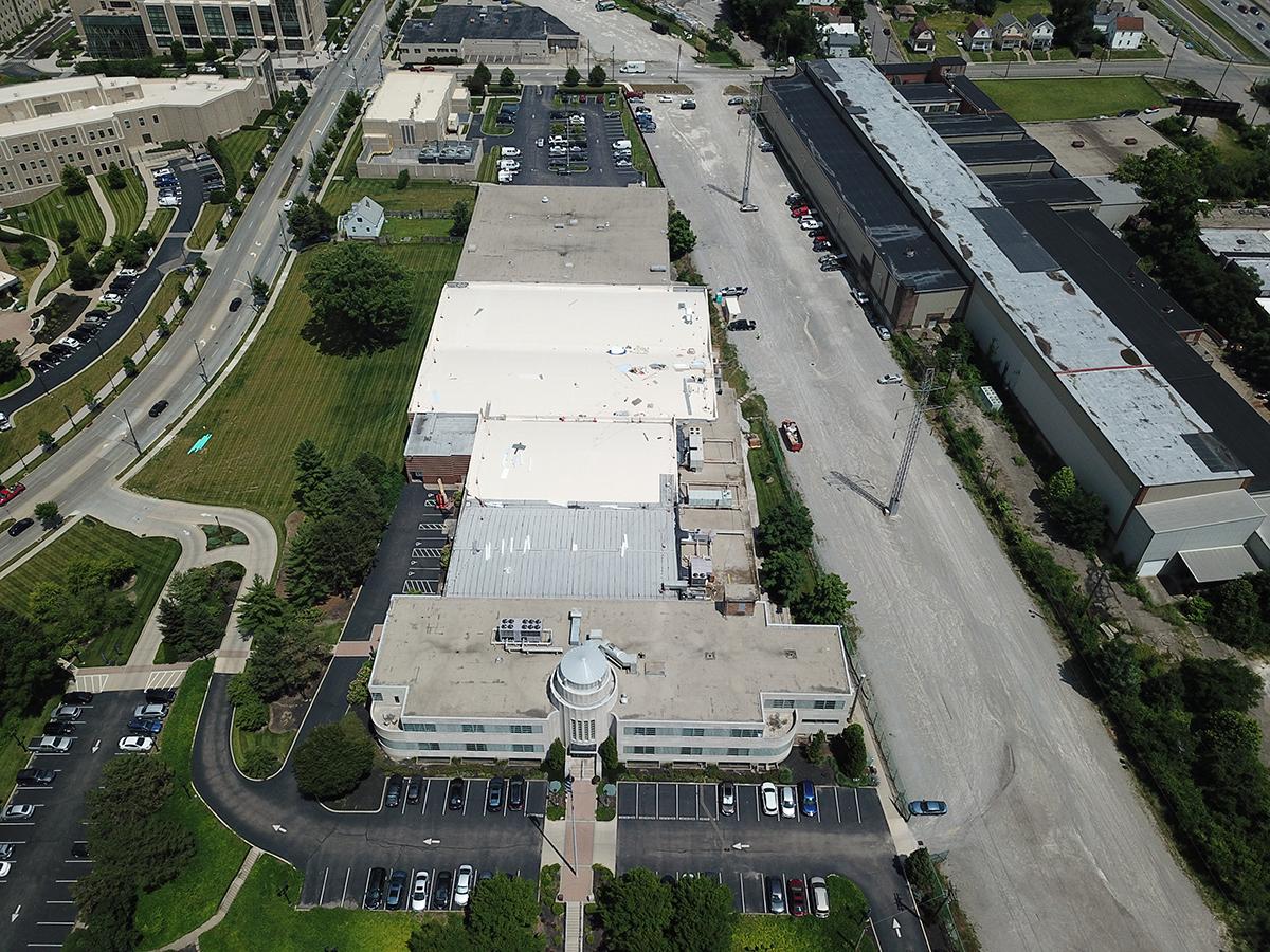 aerial of Xavier University Alumni Center