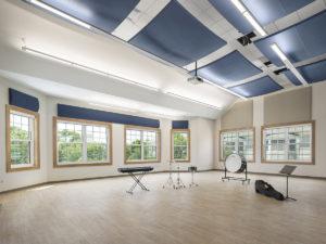 interior of Schiff Center rehearsal room