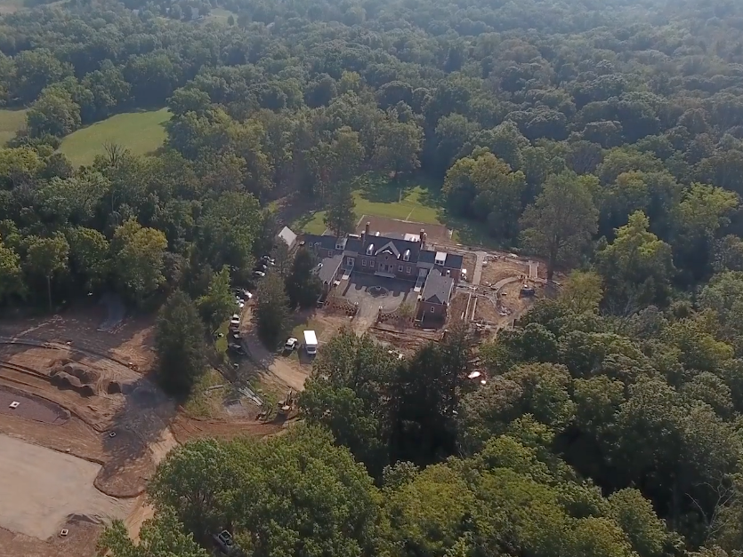 Aerial of Meshewa House at Turner Farms