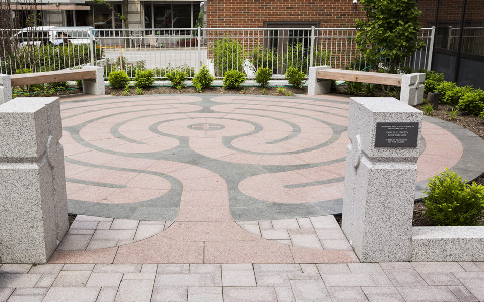 Exterior walking labyrinth at christ church cathedral