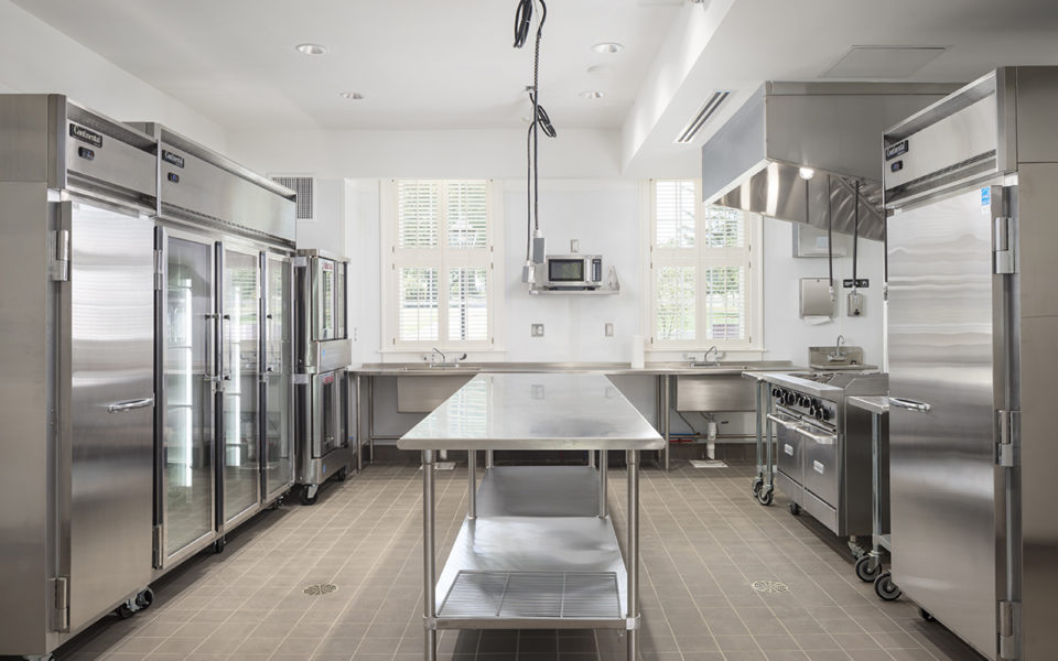 commercial kitchen at Meshewa house